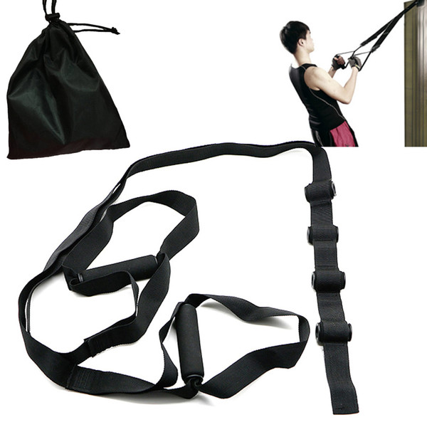 Door buckle Suspension Hangin Gym workout Crossfit Fitness Exercise Training Pull Rope Resistance bands