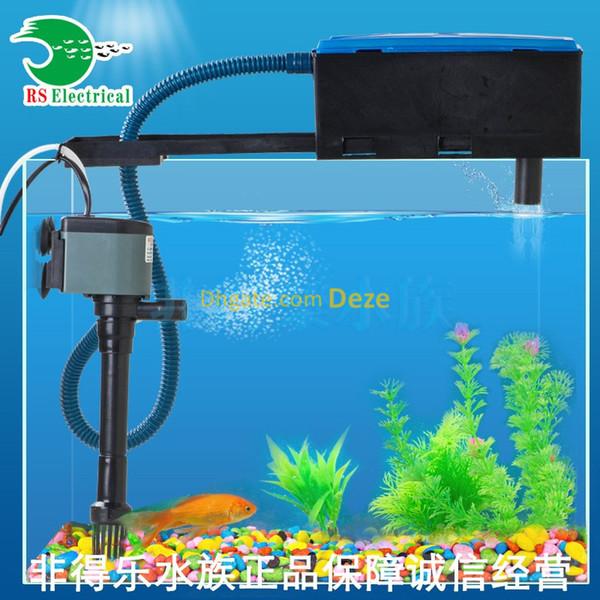 top popular RESUN 3 In1 Aquarium Top Filter Plastic Box Filter Fish Tank Submersible Pump Oxygen Water Pump Powerhead w  Filter cotton 2021