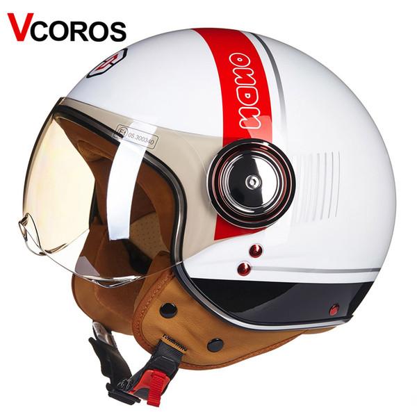 BEON new arrival vintage half face motorcycle helmet chopper jet vintage retro motobike helmet Italian flag Ece22.05 unisex