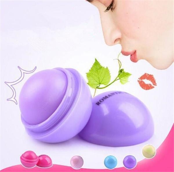 100 pz Carino Palla Rotonda Balsamo per le labbra 3D Lipbalm Sapore di Frutta Lip Smacker Labbra Idratanti Naturali Cura Balsamo Rossetto X085