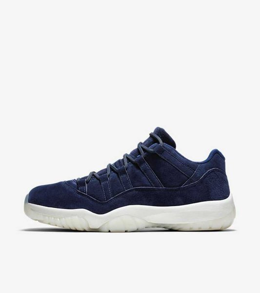 TOP Factory Version blue suede 11 Low Basketball Shoes mens trainers New 2018 Designer Sneakers with Box from Michael Sports