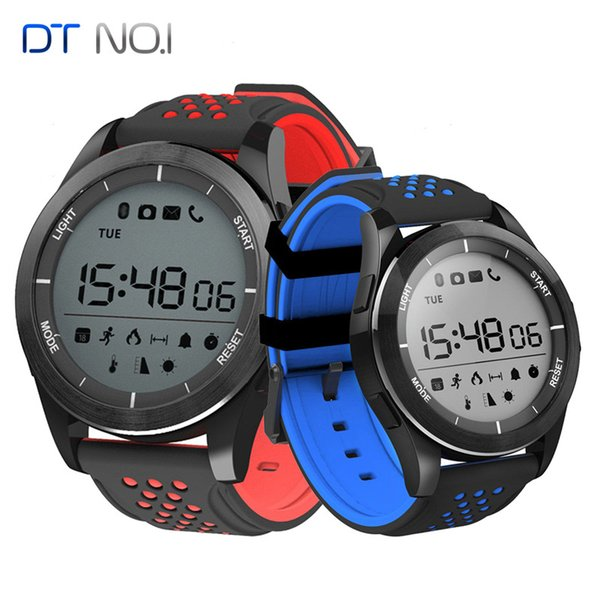 Originale DT NO.1 F3 Luminoso intelligente orologio altimetro metro barometro chilometraggio IP68 pedometro impermeabile Smartwatch per IOS Android