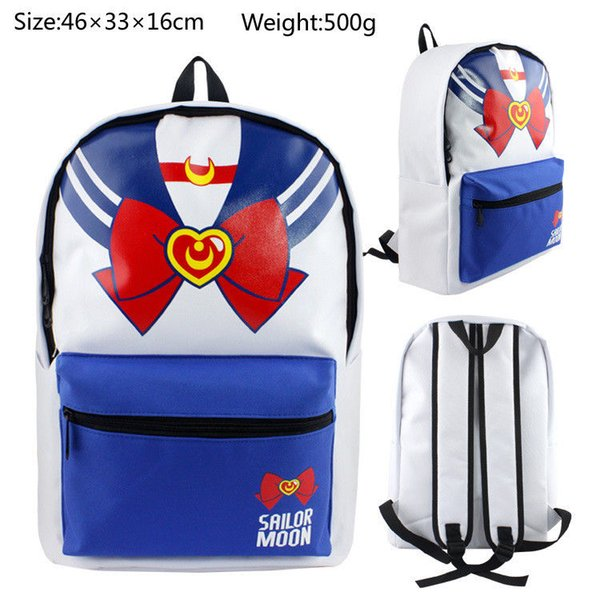 Anime Sailor Moon Nylon Backpack Sport Boy Girls School Bag Waterproof Knapsack
