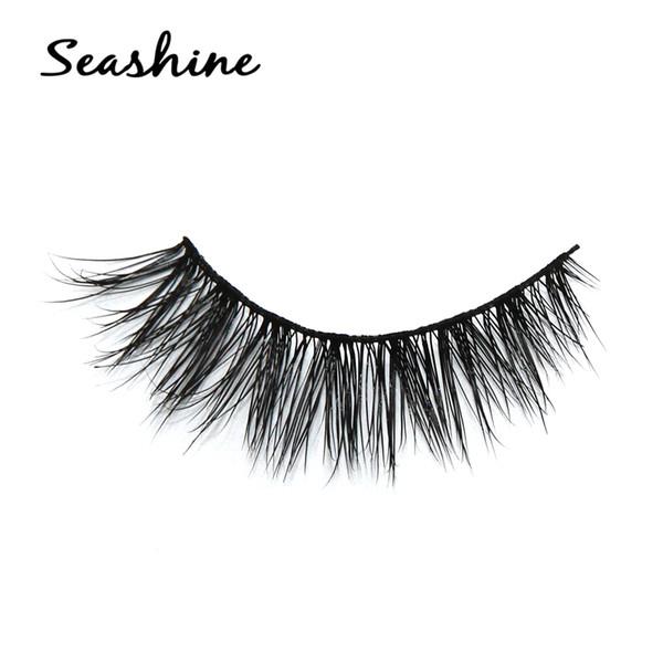 2018 Seashine 3D Mink Lashes Luxury Hand Made Mink Eyelashes Medium Volume Cruelty Free Mink False Eyelashes Upper Lashes free shipping