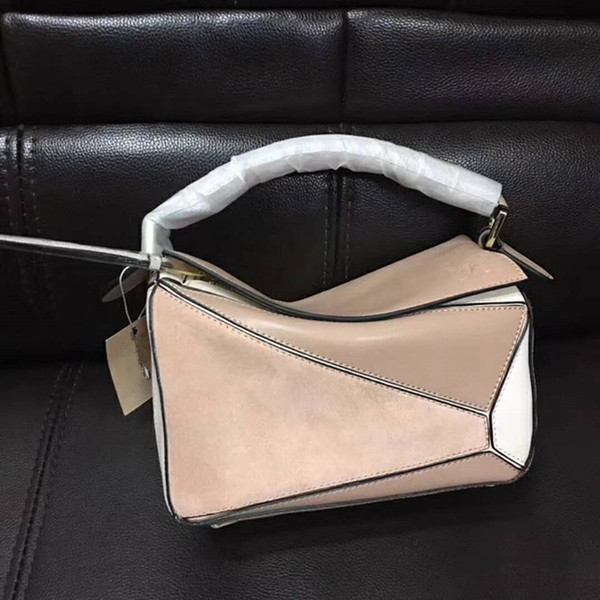 contrast color BAG brand design top quality real Leather PUZZLE bag / tote Come with Dust Bag cards L0153 FOR WOMENS FREE SHIPPING LW0082