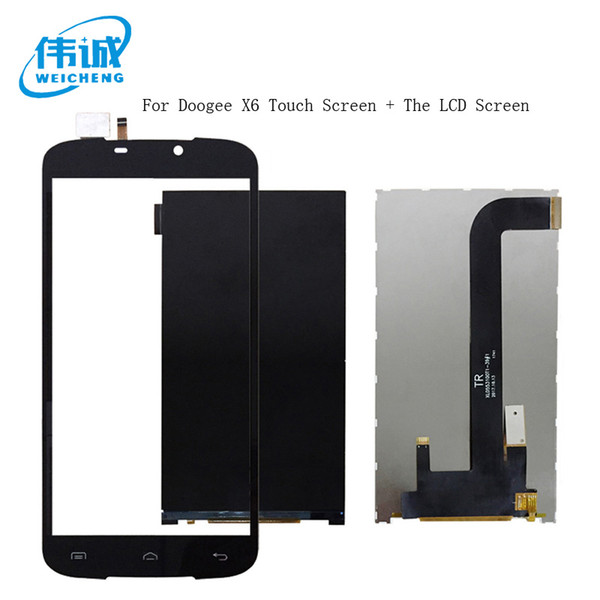 WEICEHNG For Doogee X6 LCD Display+Touch Screen Digitizer Black For Doogee X6 Screen LCD Glass Panel Pantalla Spare Parts+Tools