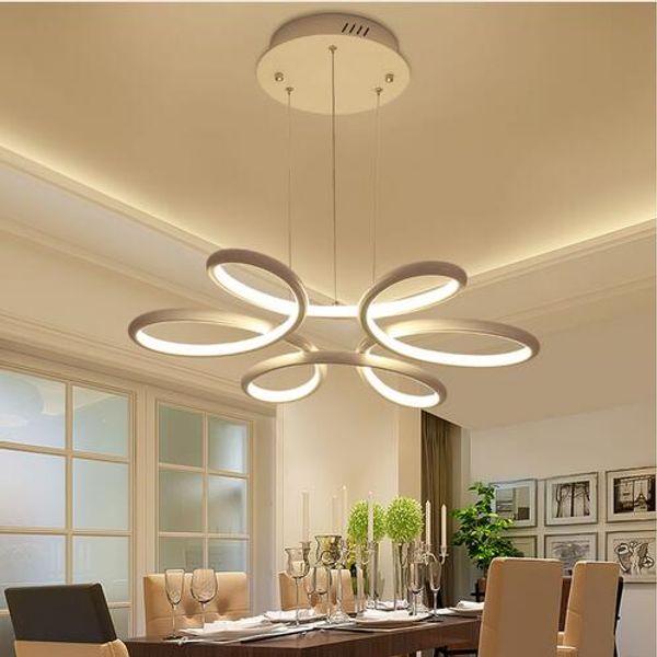 Lustre Éclairage Lustre Led Lampe Moderne Luminaire Suspendu Plaque De Plafond En Aluminium Télécommande Lustres Salon