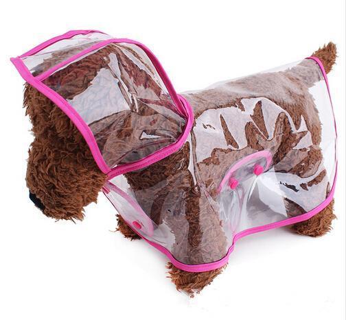 Venta al por mayor de alta calidad de PVC transparente capa del animal doméstico vestido de perro capa de lluvia impermeable estilo del verano productos para mascotas