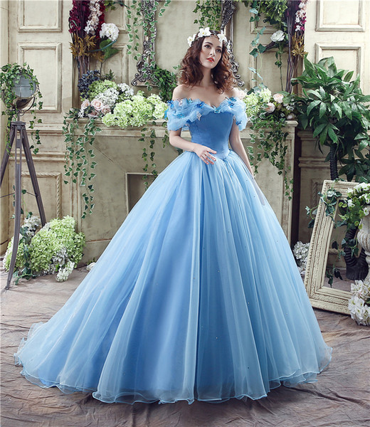 Vestidos De Organza 2018 Novo Estoque Azul Vestidos De Baile Vestidos Quinceanera Frisada Debutante Princesa Vestidos De 15 Anos Vestidos De Baile