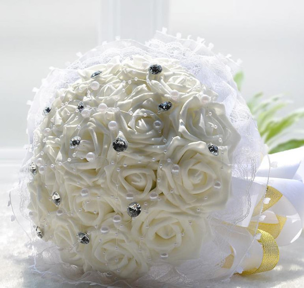 Eternal angel wedding products 18 simulation flowers, white bride holding flowers