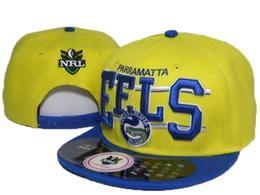Moda Parramatta Eels NRL snapback gorras de béisbol hombres mujeres tendencia ajustable bola sombreros snapback plana a lo largo de la primavera verano gorra de baile