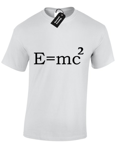 Details zu E = MC2 MENS T-SHIRT FUNNY SCIENCE EINSTEIN MATHS ALBERT PHYSICS TEACHER DESIGN Funny free shipping Unisex Casual gift