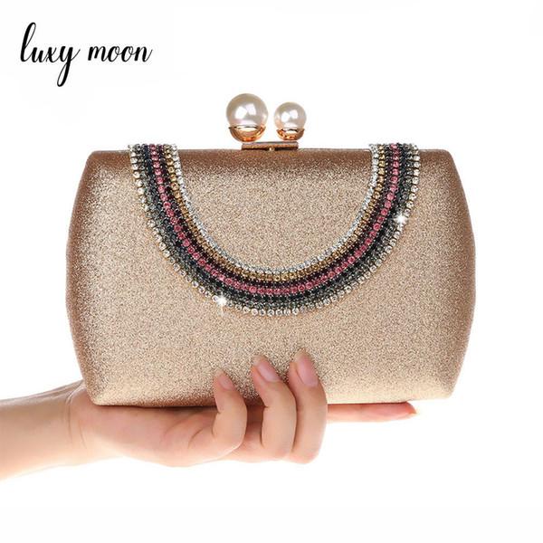 Luxy Moon Women Clutch Bags Luxury Diamond Evening Bag Crystal Clutches Rhinestones Wedding Party Purse Handbags Shoulder bags.