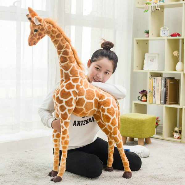 1pc 60-120cm Simulation Cute Plush Giraffe Toys Cute Stuffed Animal Dolls Soft Giraffe Doll High Quality Birthday Gift Kids Toy