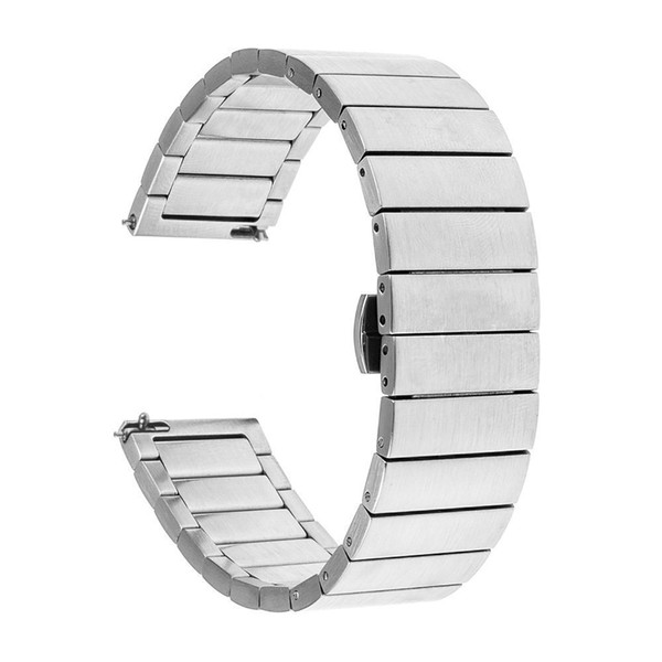 High Quality Sport Silver Stainless Steel Wrist Watch Bracelet For Huawei Watches Push-Buttion Hidden Clasp Replacement