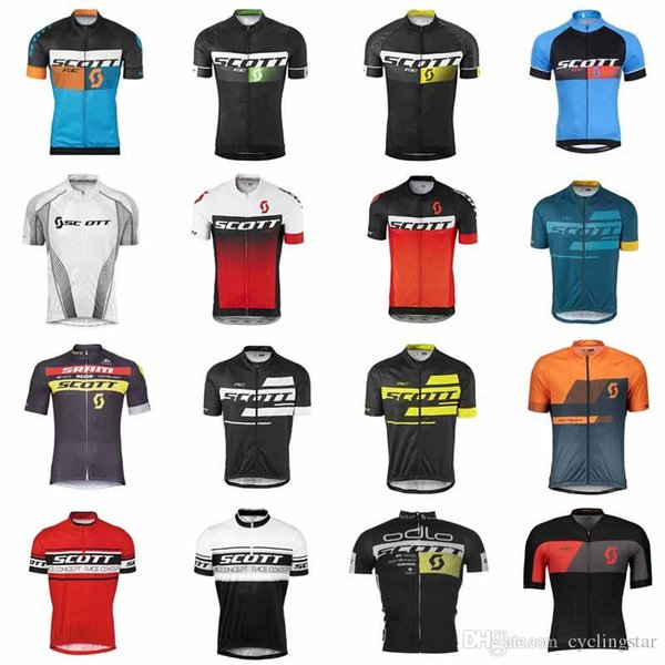 scott Men Summer Cycling Jerseys Short Sleeve Bike Jersey Cycling Clothing Road Bicycle Shirts Mountain Riding tops Mtb T shirt Male C3102