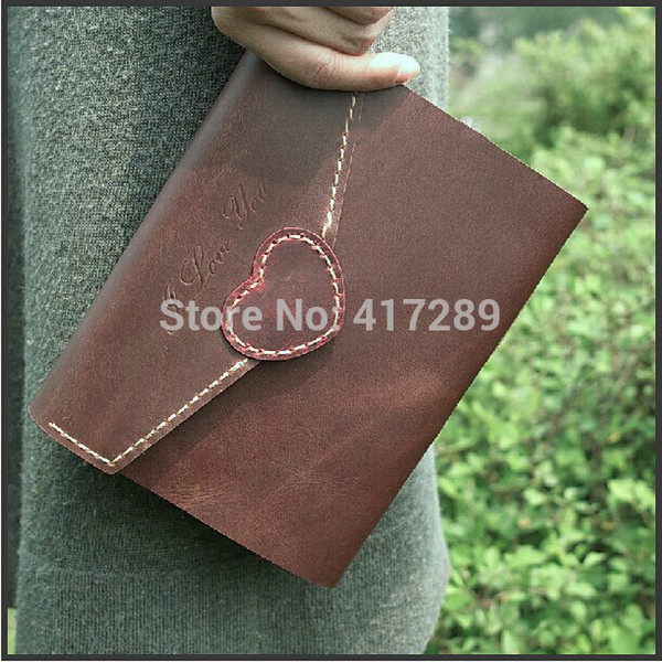 Handmade Genuine Leather Diary Book Retro NotOffice Supplies Notepad Student School Stationery Gift for Girl Friend Lover