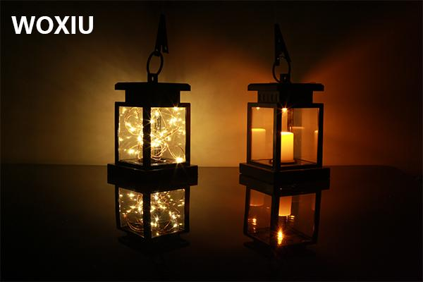 WOXIU led solar candle star lights fairy lights led strip inside warm white decoration for home garden outdoor tree bar street store holiday