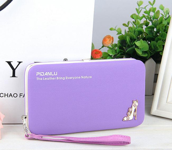 Best buy Baellerry Brand fashion Wallet Women top quality leather wallet female multifunction purse long big capacity card holders Purse