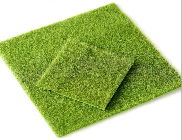 Artificiel Vert Herbe DIY Faux Mousse Miniature Jardin Ornement Artisanat 15x15cm