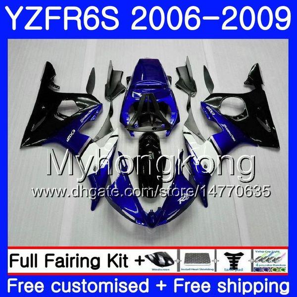 Body For YAMAHA YZF R6 S R 6S YZF600 YZFR6S 06 07 08 09 231HM.3 YZF-600 YZF R6S YZF-R6S Factory blue hot 2006 2007 2008 2009 Fairings Kit