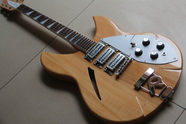 Free Shipping New Arrival Rick... 325 Electric Guitar 3 Pickups In Natural 120818