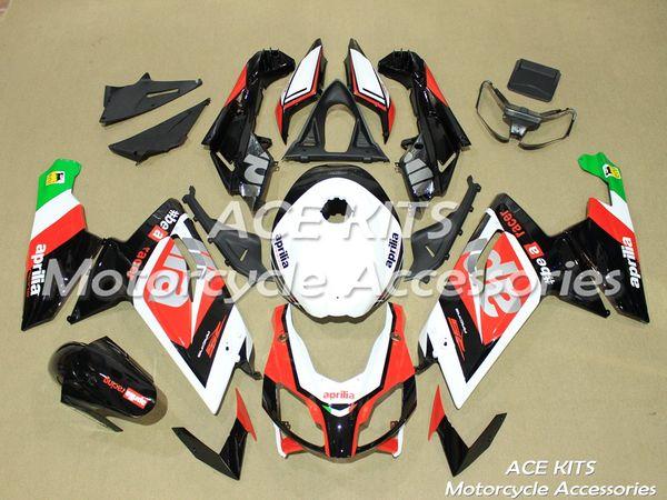 Carenados de motocicleta ACE para Aprilia RS125 2006 2007 2008 2009 2010 2011 Compresión o inyección Carrocería Negro Rojo Blanco No.615