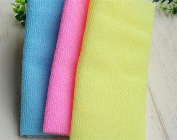 panno di bellezza della pelle di salux panno di lavaggio esfoliante corpo giapponese asciugamano di lavaggio 45pcs