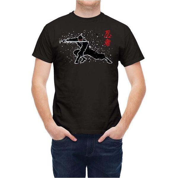 Tshirt Japanese Ninja Fighter Silhouette T25486 Cool Casual pride t shirt men Unisex New Fashion tshirt Loose Size top ajax