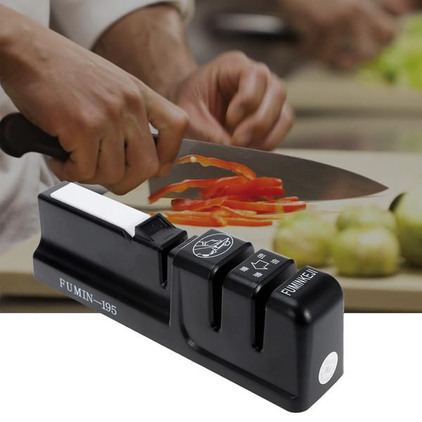 Messerschärfer 3 Stufen Schnellschärfer Professionelle Küche Werkzeug Messer Grinder Rutschfeste Silikon Gummi Haushalt Scissor NB