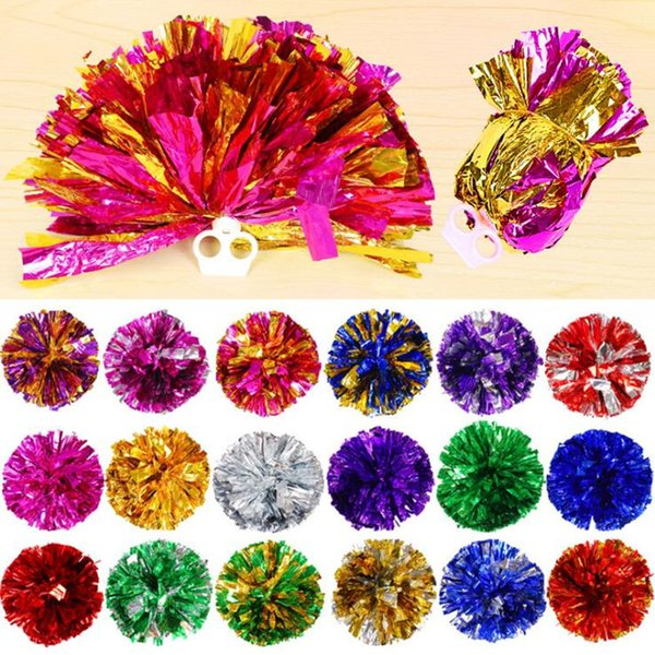 Colorful Cheerleader Dancing Sports Match Conncert Game Pompoms Dance Hand Flower Ball Festive Party Props Favors