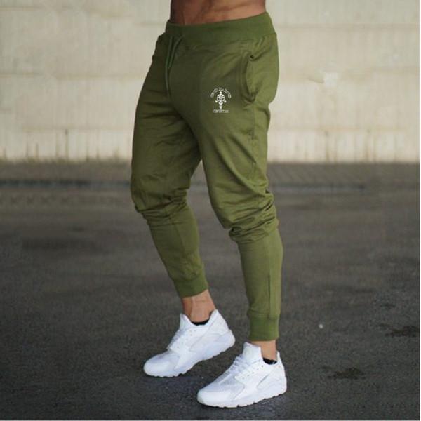 a9b7b82b61411 COCEDDB Marca Pantalones de Hombre 2018 Nueva Moda Slim Color Sólido  Elasticidad Hombres Pantalones Casuales Hombre