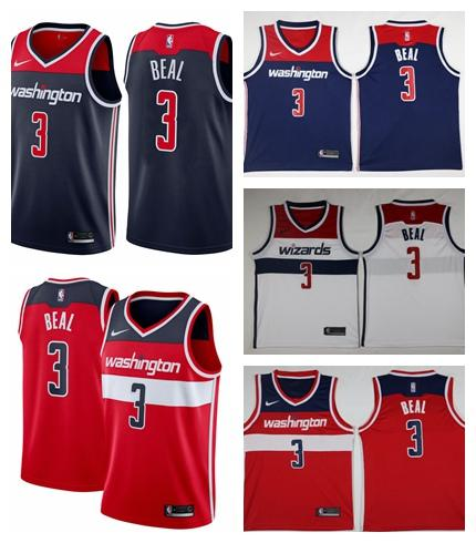 best loved 32159 da170 2018 2019 New Mens 3 Bradley Beal Washington Jersey Wizards Basketball  Jerseys 100% Stitched Mesh Dense AU Wizards John Wall Basketball Jerseys  From ...