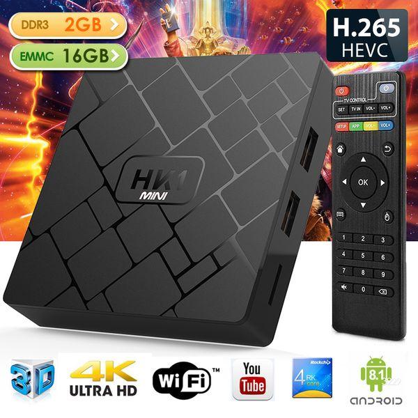 HK1 mini Android 8.1 TV BOX 2019 2GB 16GB 18.0 4K Media Player WiFi internet box vs TX3 mini