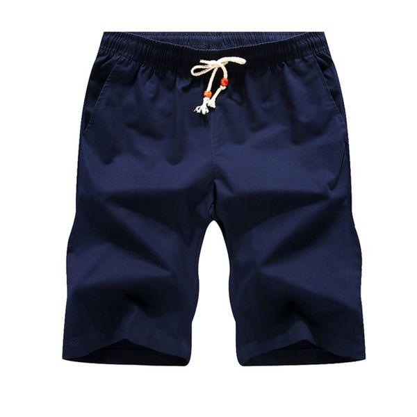 JEELINBORE Summer Beach New Man's Causal Short Slim Solid Beach Shorts