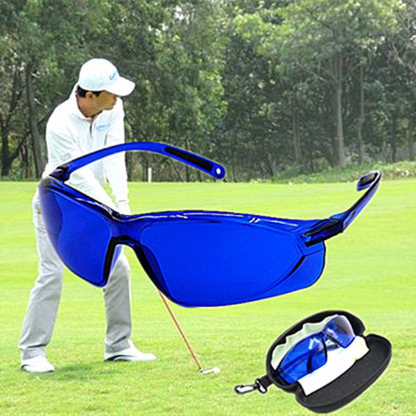 best selling golf finding glasses Professional Ball Finder Eye Protection Golf Accessories Blue Lenses Sport ship with case