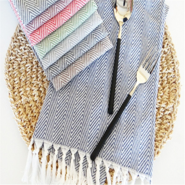 Web Celebrity Tassel Napkin Cloth, Home Fabric Art Food Photo Background  Cloth Kitchen Towel Tablecloth Purple Linen Napkins Coloured Napkins From  ...