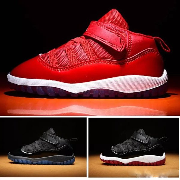 kid 11 XI Space Jam Shoes Little Baby Boys Girls Toddlers 11s Gamma Concord Bred Walkers Sneaker size 6C-10C