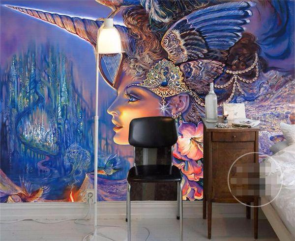 Customize Size Modern Murals Background Hip-hop Graffiti European Style Art Wall Covering Decor Living Room Mural Wallpaper