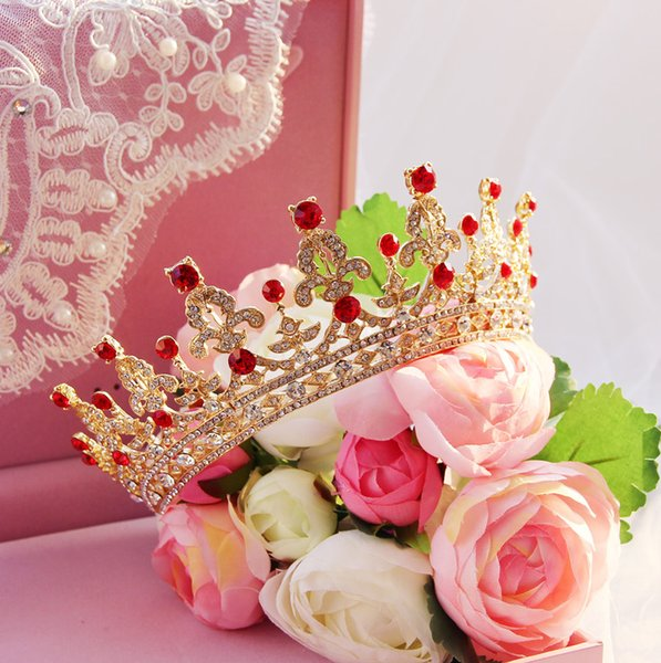 Baroque Crystal Bridal Crowns Hairbands Bridal Tiaras Headpieces European Wedding Diadem Queen Crown Party Wedding Dresses Hair Accessories