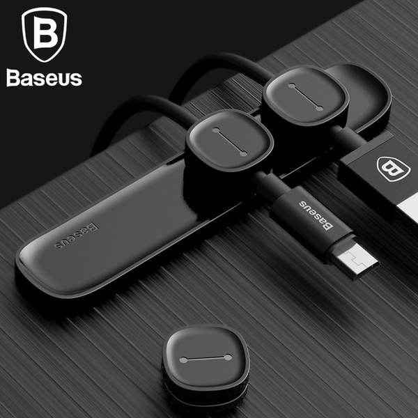Baseus Magnetic Cable Clip For Mobile Phone USB Data Cable Organizer For USB Charger Cable Magnetic Holder Desktop