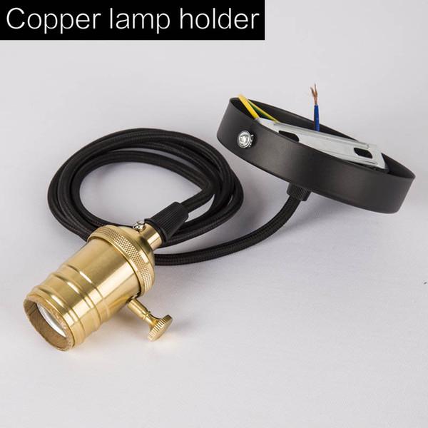 Copper lamp holder
