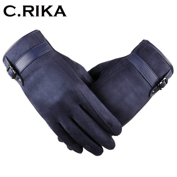 Men Autumn winter warm gloves Warm Cashmere Thermal Mittens male Touching Screen for Smart Phone/Ipad winter outdoor gloves