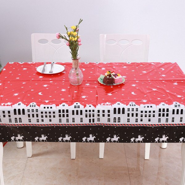 Nouveau De Noël Nappe Polyester Poussière Table Cover Party Decor Tissu Table Overlay Maison De Table De Noël Décoration