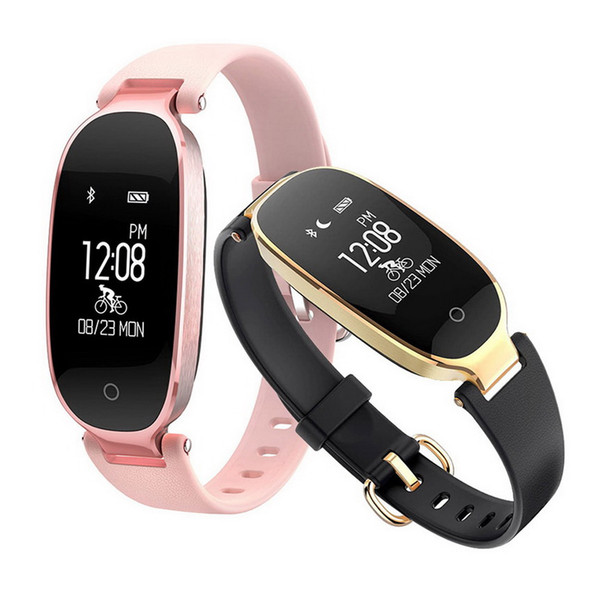 S3 Smart Wristbands Fitness Pulsera Monitor de Ritmo Cardíaco Activity Tracker Smartwatch Band Mujeres Ladies Watch para IOS Android Phone