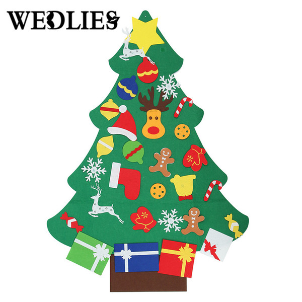 DIY Non-Woven Christmas Tree Decoration Set Kids Toys New Year Gifts Door Wall Hanging Ornaments Christmas Decorations For Home