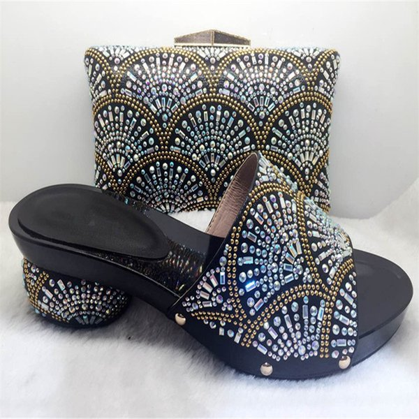 New Italy Shoe And Bag African shoe and bag set high heel italian shoe with matching bag best selling ladies Wedding Party shoes
