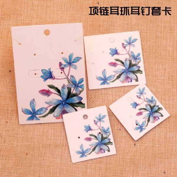 الزهرة الزرقاء 4.5x4.5cm 100pcs التي