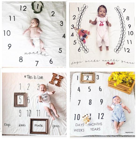Nouveau-né Wrap Swaddles bébé grandir enregistrement Tirer fond Couvertures Euro America Hot Sale bébé en coton Couvertures Photographie