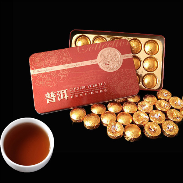 Promition China Mini Tuocha Yunnan Puer Tea Puerh health tea tin packaging Black Tea Flavor Pu'er